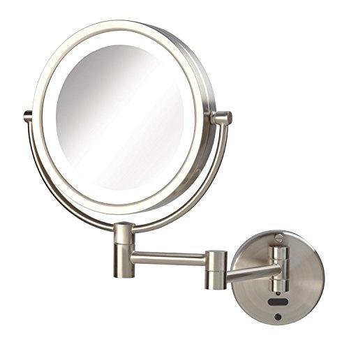 Jerdon Sharper Image LED Lighted Wall Mount Sensor Mirror, Nickel, 4 Pound