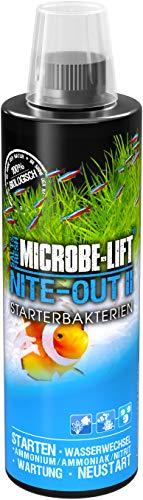 MICROBE-LIFT Nite-Out II – Bakterienstarter für Süßwasser & Meerwasser Aquarium, für schnellen Fischbesatz, 473 ml