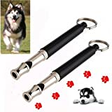 SLB Works Brand New 2pcs Pet Dog Puppy Training Command Whistle UltraSonic Supersonic