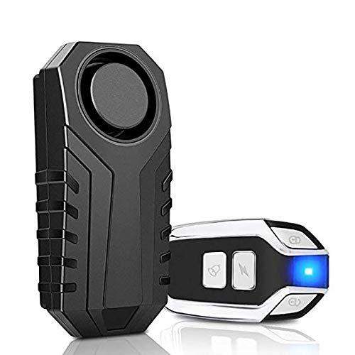 113db fuerte inalámbrico Bicicletas antirrobo alarma impermeable puerta/ventana vibración alarma inteligente control remoto sensor alarma