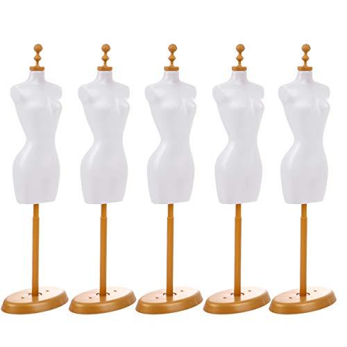 EXCEART 5Pcs Vestido de Muñeca Forma Mini Vestido de Maniquí Forma Mini Modelo de...