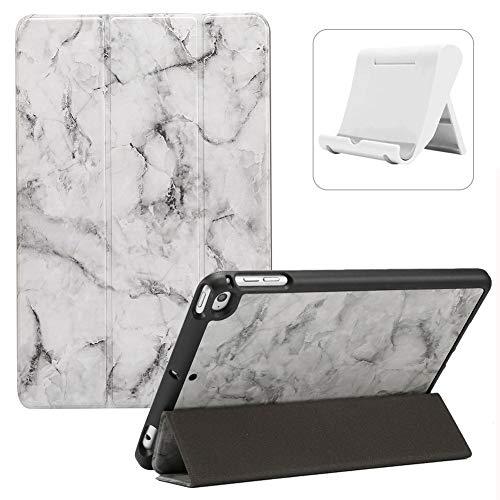 Shinyzone Tablet Hülle mit Stifthalter für iPad Mini 5/iPad Mini 4,Marmor Muster Trifold Ständer Smart Schutzhülle mit [Auto Aufwachen/Schlaf] [Handyhalterung],Schwarz