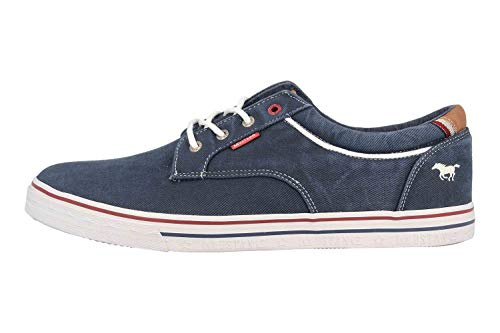 MUSTANG Shoes Halbschuhe in Übergrößen Blau 4147-303-820 große Herrenschuhe, Größe:50