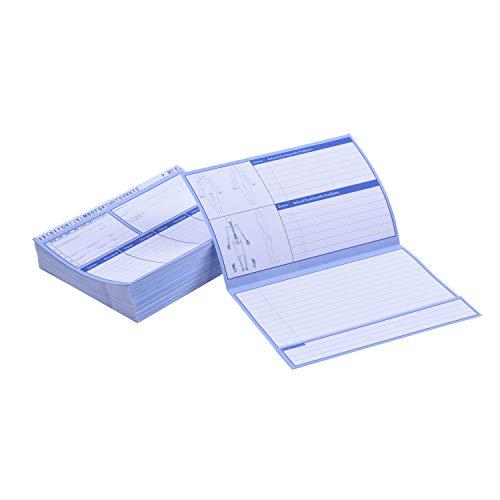 Patientenkarteikarten gefaltet, 250 Stück I DIN A5, 200g/m2 I Karteikarten für die Arztpraxis, Physiotherapie oder Krankengymnastik I in drei Mengen verfügbar