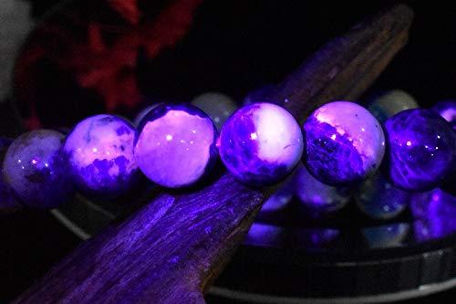 【 福縁閣 】【1点物】青×白のコントラスト! ブルーハックマナイト 8.5mm ブレスレット_I1081 天然石 パワーストーン ビーズ