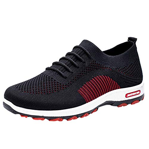 SSUPLYMY Männer Sportschuhe Paar Modelle Laufschuhe fliegen gewebt Mesh Freizeitschuhe Mode Laufsocken Schuhe Studenten elastische dünne Stiefeletten rutschfeste Schuhe Mesh-Schuhe