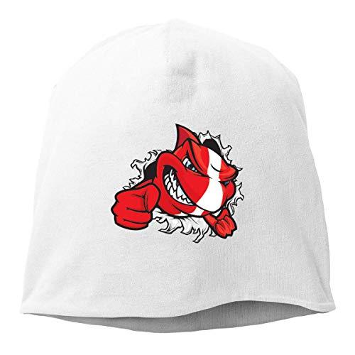 Gorra unisex con diseño de tiburón para buceo, unisex, de punto suave