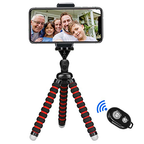 Phone Tripod, Tabletop Travel Portable and Flexible Camera Stand Holder...