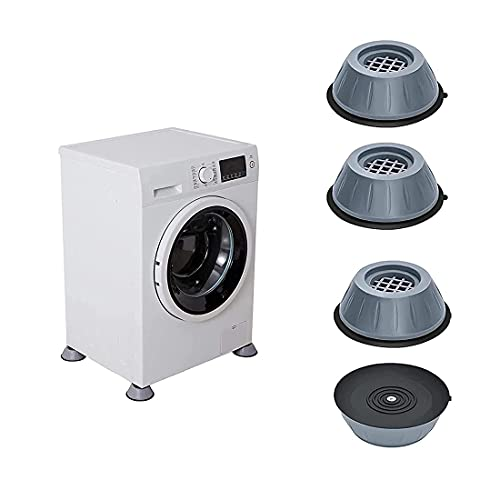 Anti Vibration Washing Machine Support Pads, Anti-slip and Noise-reducing Washing Machine Feet Rubber Washing Machine Feet Pads (4PCS)