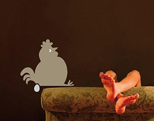 Apalis Sticker Mural No.UL895 Fat Hen Sitting Idle, Print Favourite Colour 1:Ochre;Druck Wunschfarbe 2:Mandarin;Dimensions:90cm x 92cm