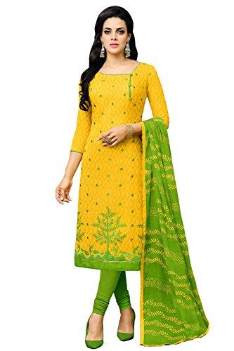 Applecreation Women Cotton Un-Stitched Dress Material
