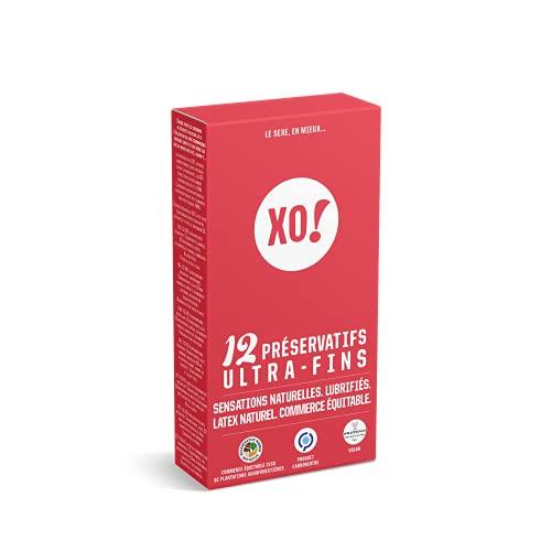 XO! - Caja de 12 preservativos de látex natural y veganos ultrafinos