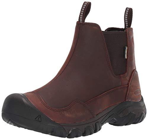 KEEN Women's Hoodoo III Chelsea WP Boot, Tortoise Shell/Mulch, 10 M US