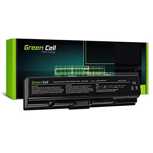 Green Cell Batería para Toshiba Satellite L505-11J L505-124 L505-12Q L505-12W L505-138 L505-139 L505-13D L505-13E L505-13G L505-13H L505-13J L505-13K Portátil (4400mAh 10.8V Negro)