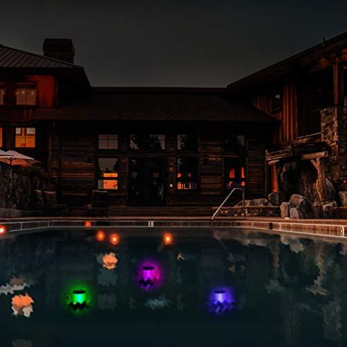 Uonlytech teichlicht, led schwimmlicht, globus schwimmlicht, globus teichlicht solar schwimmlicht, farbwechsel magische kugel solar teichlicht, solar pool licht für schwimmbecken teich (4 stück)