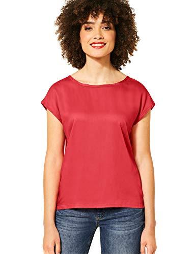 Street One Damen 341981 Blusenshirt Bluse, neon Coral, 38