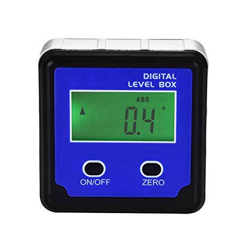 Winkelmessung, digital, LCD, Neigungsmesser zur Korrekturkorrektur, Level 4 x 90 °, Absenkwinkel mit Magnetfuß (blau)
