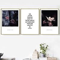植物の装飾の絵画家の装飾カエデの葉植物の葉のキャンバスの絵画リビングルームの壁の装飾ポスター研究の装飾-40x60cmx3個フレームなし