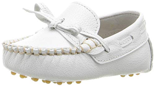 Elephantito Baby Boy's Driver Loafers (Infant) White 4 Toddler