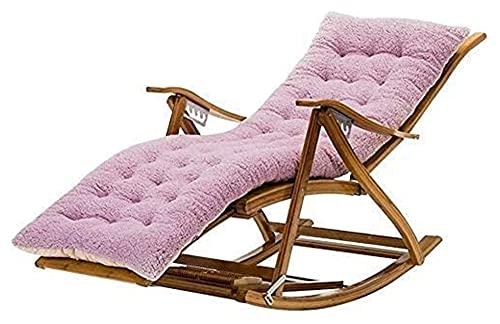 ZOUJIANGTAO Sillas de jardín tumbonas Silla Plegable Silla Mecedora Silla Mecedora Silla de Siesta Multifuncional con Rueda de Masaje de pies (Color : Purple, Size : 170x47x45cm)