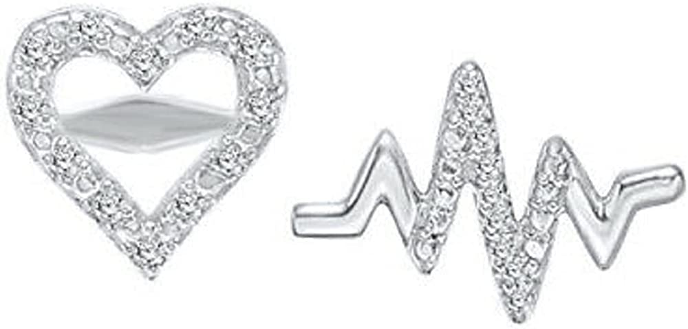 ABHI Created Round Cut White Diamond Sterling Whi 925 New York Mall Silver New mail order 14K