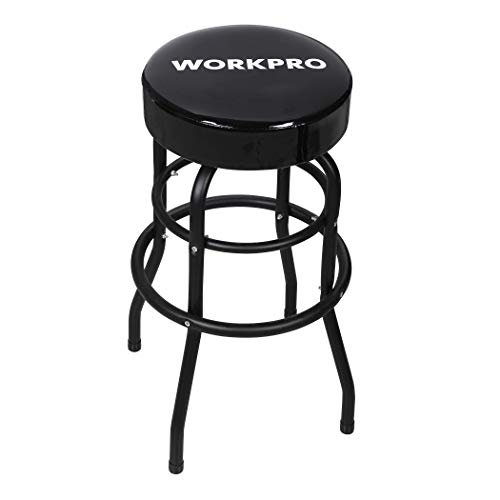 WORKPRO Shop Stool Bar Stool with Padded Swivel Shop Seat,...