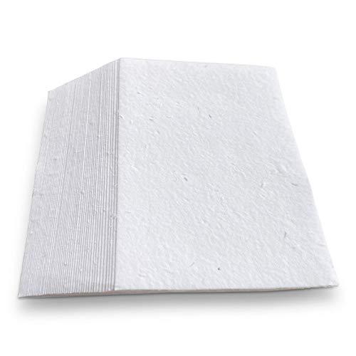 Handgemachte Blumensamen-Papierkarten - 21 x 30cm (A4) - 50 Stück   Pflanzbares Papier mit Wildblumenkernen   Perfekt für Einladungen, Postkarten oder Kunstwerke   Dick - 250 g / m²