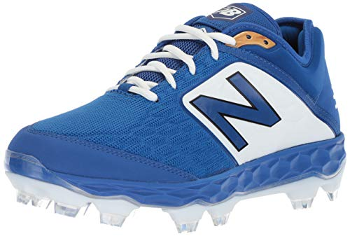 New Balance Men's 3000 V4 TPU Molded Baseball Shoe, Royal/White, 7.5 M US
