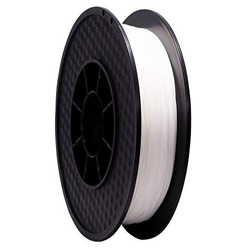Wanhao - Filamento per stampante 3D flessibile, in TPU, 64D, 1,75 mm, 0,5 kg, colore: Bianco, bianco, 1