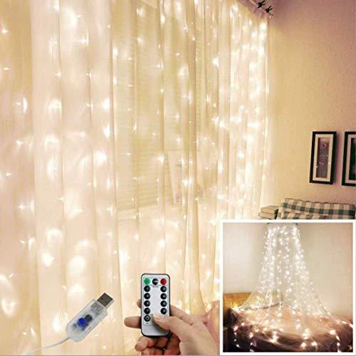 Noel Decoration Lampe 3x3 3x2 3x1m Décoration De Noël Led Icicle Fairy String Lights Hang Curtain Light String Wedding Party Garden Decor Usb