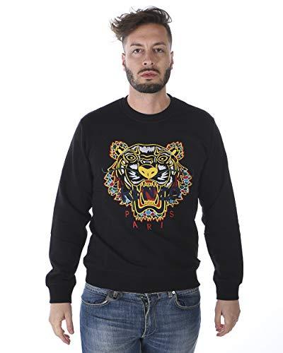 Kenzo - MAN Sweatshirt 4XH5SW089 SCHWARZER Drache Tiger Sweatshirt XL