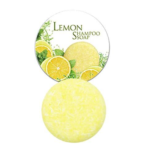 Styledress Barre de Shampooing Solid Shampoo pour Cheveux Shampoo Barre Végétalienne Plant Essence Shampoo pour cheveux gras cheveux secs et abîmés Aide à lutter contre les pellicules (citron)