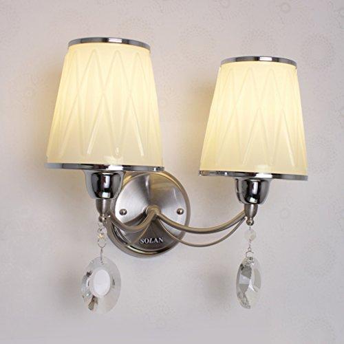 DLewiee Modern Fashion Simple Single-Headed Led Lampe En Cristal Applique Salon Lampe Étude Lampe Restaurant Lampe Chambre Lampe De Chevet Aisle Corridor Lumière Escalier Lumière