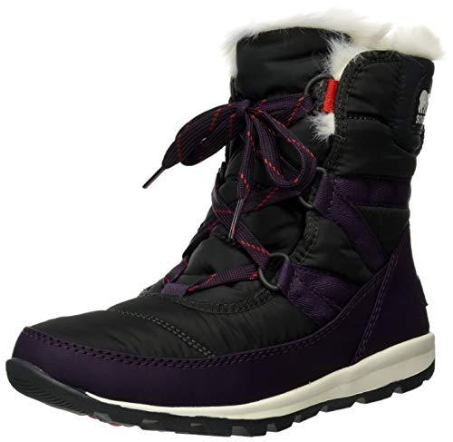 Sorel - Women's Whitney Short Lace Waterproof Insulated Winter Boot, Dark Plum, 5 M US