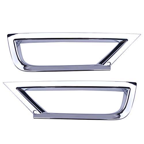 CITALL Paar ABS verchromtes Auto Front Nebel Licht Rahmen Abdeckung Verkleidung