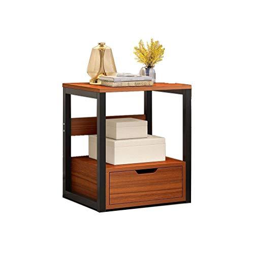 Mesa auxiliar simple pequeña mesa de centro económica mesita de noche multi-capa almacenamiento altura 50 cm