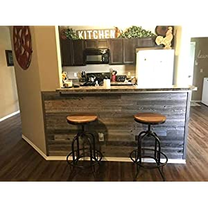 Peel & Stick Rustic Reclaimed Barn Wood Paneling, Real wood, Rustic Wall Planks - Easy Installation (1 SQUARE FOOT)