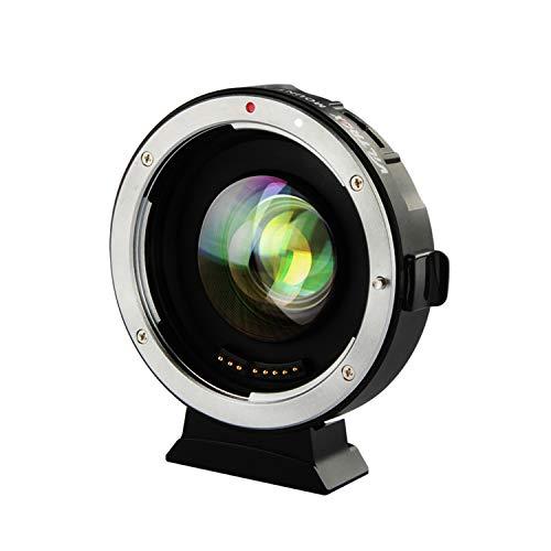 VILTROX EF-M2II - Adaptador de Objetivo de Enfoque automático, Reductor Focal (0,71 aumentos para Objetivo Canon con Montura EF a cámara M43)