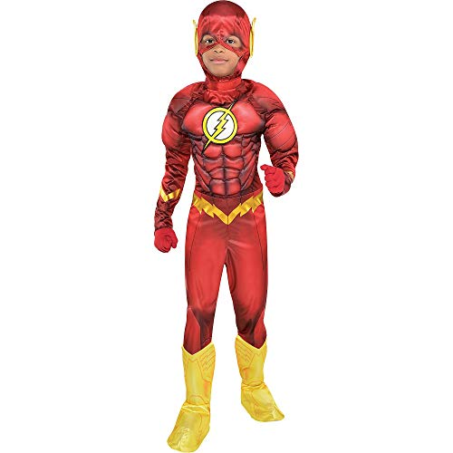 Costumes USA The Flash Muscle Halloween Costume for Boys, DC Comics: The New 52, Small (4-6), Includes Jumpsuit, Mask
