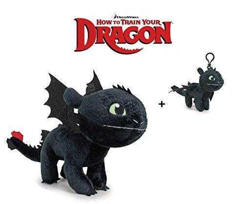 Dragons Drachenzähmen leicht gemacht Plüsch Figur Kuscheltier Drachen Ohnezahn Toothless 11