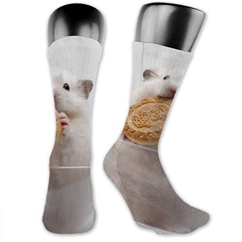 Leila Marcus Herren- und Frauensocken sind bequem, leicht und verschwitzt, lustiger Hamster aus Glas, mittlere und lange Socken
