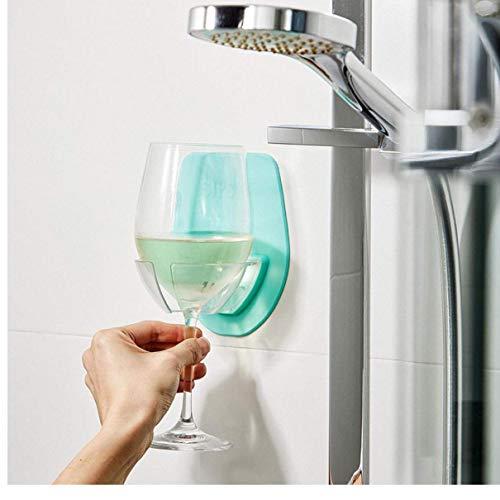AMOYER Kunststoff Weinglashalter Für Das Bad Dusche Saugnapf Wein