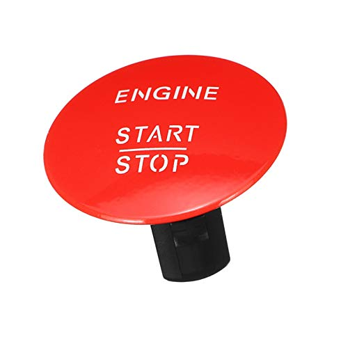 JOMOSIN QICHE25 1 interruptor de botón de arranque de motor de coche sin llave para Mercedes Benz W164 W205 W212 W213 W164 W221 X204 cubiertos/rojo automotriz (color: rojo)