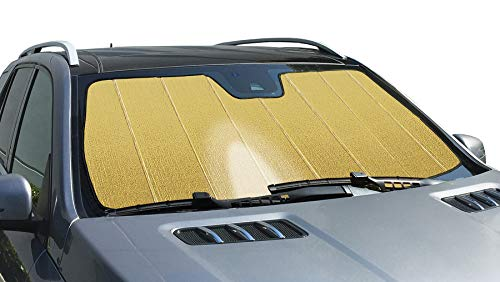 Intro-Tech TT-914-RG Gold Ultimate Reflector Custom Fit Folding Windshield Sunshade for Select Toyota Rav-4 Models