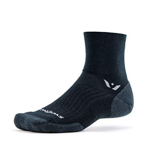 Swiftwick- PURSUIT FOUR | Cycling & Trail Running Socks | Merino Wool, Durable Crew |...