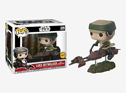 Star Wars CHASE Luke Skywalker on Speeder Bike Deluxe Pop! Vinyl Bobble Head (Luke Skywalker)