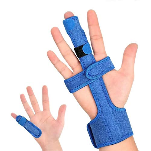 Trigger Finger Férula Azul Dedo Protector Corrector Acero