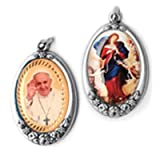 Mary Undoer of Knots Maria Desatanudos Silver Plated Full Color Medal Blessed by Pope Francis