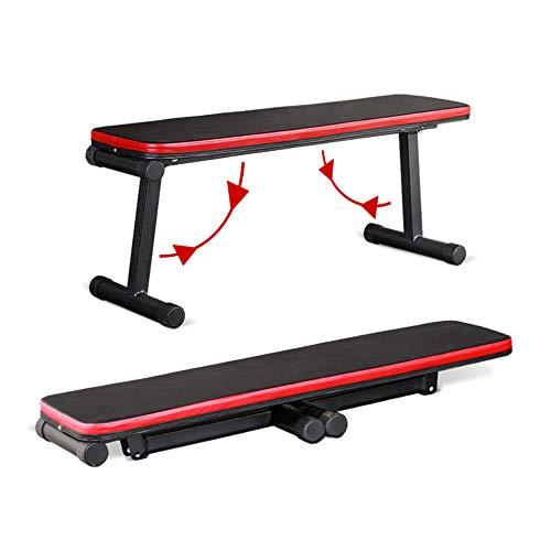ZJMWQ Faltbar Hantelbank Mit Gewichten Trainingsbank Flachbank Weight Bench FüR Zuhause Fitnessstudio