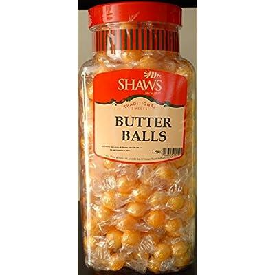 wj shaws butter balls sweets 1.5kg jar old sweet shop style WJ Shaws Butter Balls Sweets 1.5KG JAR Old Sweet Shop Style 41U1OKXrC3L